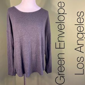 L Green Envelope Los Angeles sweater
